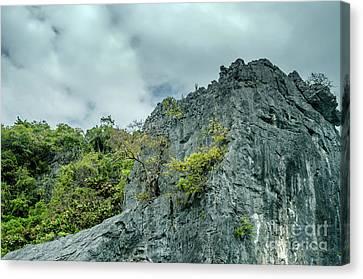 Angthong Canvas Print - Rocks At Moo Koh Angthong by Michelle Meenawong