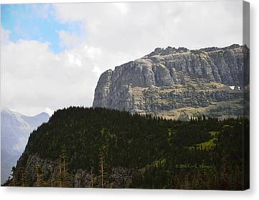 Canvas Print featuring the photograph Rocks Clouds And Trees by Kae Cheatham