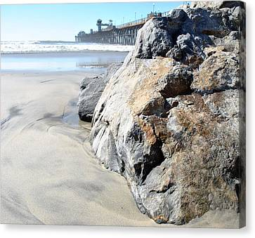 Canvas Print featuring the photograph Rocks Eye View by Amanda Eberly-Kudamik