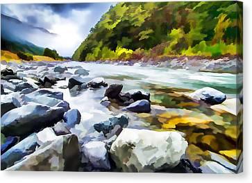 Aotearoa Canvas Print - Rocks In Creek by Lanjee Chee