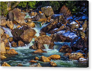 Rocks In The Merced River Canvas Print