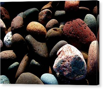 Rocks Of Lake Superior Canvas Print by Bridget Johnson