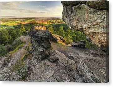 Rocks Of Sharon Overlook Canvas Print by Mark Kiver