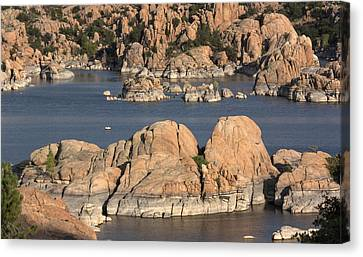 Rocks Of Watson Lake  Canvas Print