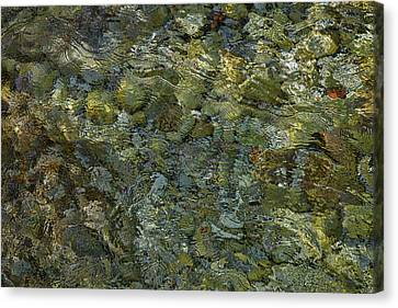 Canvas Print featuring the photograph Rocks Under The Soca River #2 - Slovenia by Stuart Litoff