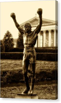 Rocky - Heart Of A Champion  Canvas Print by Bill Cannon