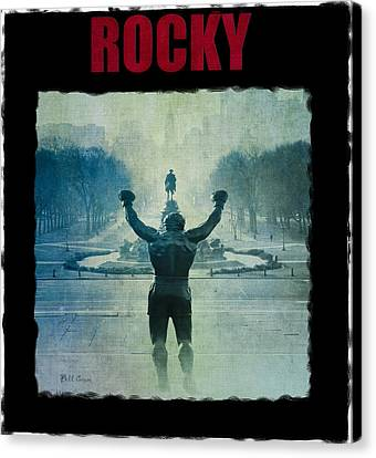Rocky Balboa On Top Of The Art Museum Steps Canvas Print by Bill Cannon