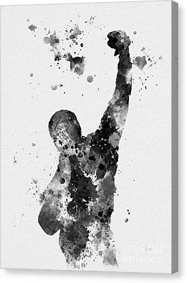 Boxer Canvas Print - Rocky Balboa by Rebecca Jenkins