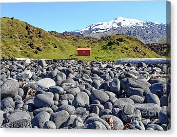 Canvas Print featuring the photograph Rocky Beach Iceland by Edward Fielding
