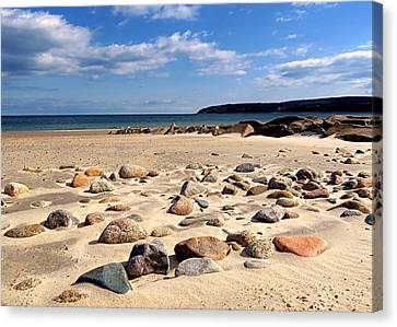 Rocky Beach Canvas Print by Janice Drew
