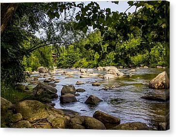 Rocky Broad River Canvas Print
