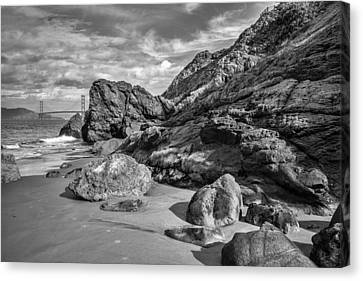 China Beach Canvas Print - Rocky China Beach San Francisco by Judith Barath
