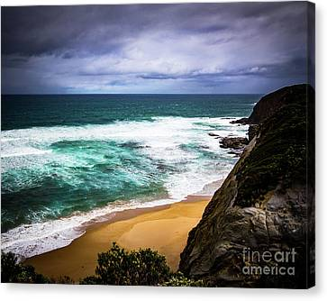 Canvas Print featuring the photograph Rocky Coast by Perry Webster