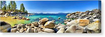 Rocky Cove Sand Harbor Canvas Print by Jason Abando