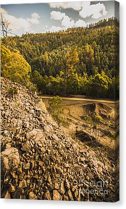 Rocky Hills And Forestry Views Canvas Print by Jorgo Photography - Wall Art Gallery