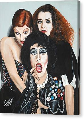 Rocky Horror Picture Show Canvas Print by Tom Carlton