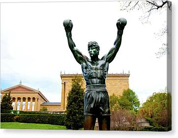 Canvas Print featuring the photograph Rocky I by Greg Fortier