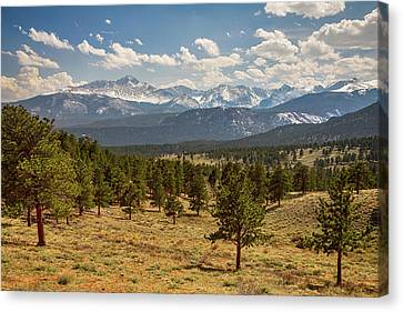 Canvas Print featuring the photograph Rocky Mountain Afternoon High by James BO Insogna