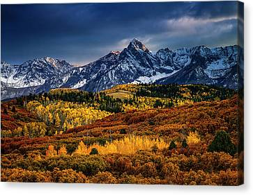 Rocky Mountain Autumn Canvas Print by Andrew Soundarajan