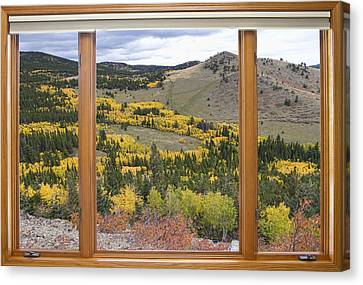 Aspen Tree Canvas Print - Rocky Mountain Autumn Picture Window View by James BO  Insogna