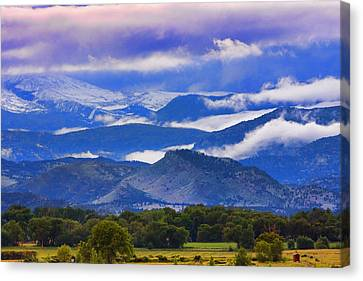 Rocky Mountain Cloud Layers Canvas Print by James BO  Insogna