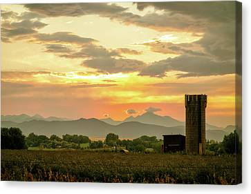 Canvas Print featuring the photograph Rocky Mountain Front Range Country Landscape by James BO Insogna
