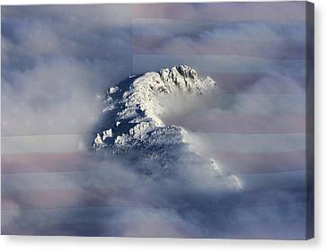 Snow Flag Canvas Print - Rocky Mountain High - America The Beautiful by James BO Insogna