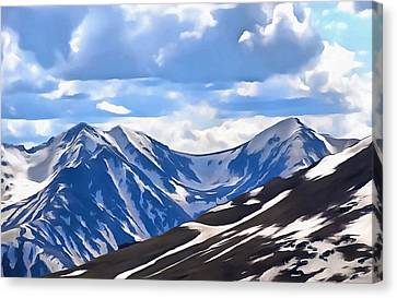 Rocky Mountain High Trail Ridge Road Canvas Print by Dan Sproul