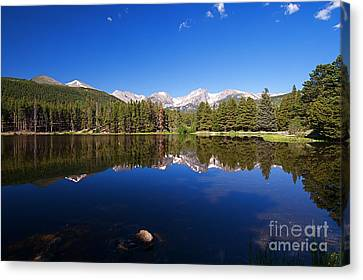 Rocky Mountain Lake In A Colorado National Park Canvas Print by ELITE IMAGE photography By Chad McDermott
