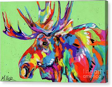 Rocky Mountain Moose Canvas Print by Tracy Miller