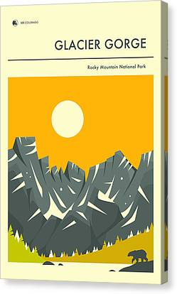 Rocky Mountain National Park Poster 2 Canvas Print by Jazzberry Blue