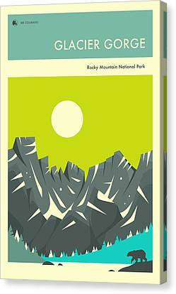 Rocky Mountain National Park Poster Canvas Print by Jazzberry Blue