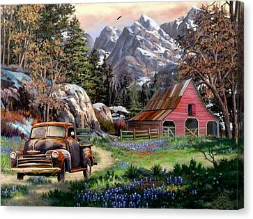 Rocky Mountain Ranch Canvas Print by Ron Chambers