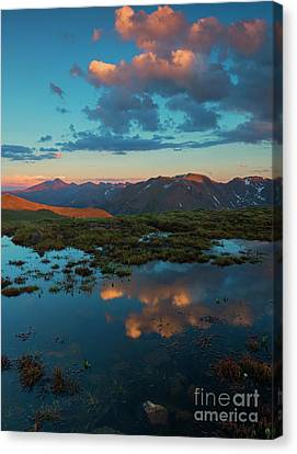 Rocky Mountain Reflections Canvas Print by Mike Dawson