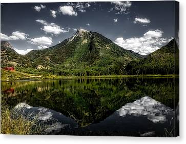 Rocky Mountain Reflections Canvas Print by Mountain Dreams