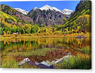 Canvas Print featuring the photograph Rocky Mountain Reflections - Telluride - Colorado by Jason Politte
