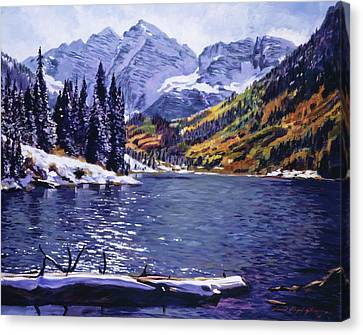 Rocky Mountain Serenity Canvas Print by David Lloyd Glover
