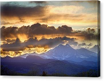 Rocky Mountain Springtime Sunset 3 Canvas Print by James BO  Insogna