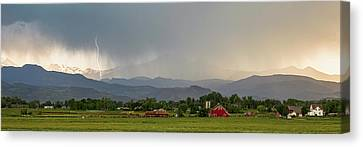 Canvas Print featuring the photograph Rocky Mountain Storming Panorama by James BO Insogna