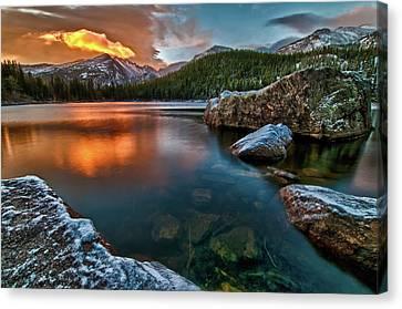 Colorado Captures Canvas Print - Rocky Mountain Sunrise Dream by Mike Berenson