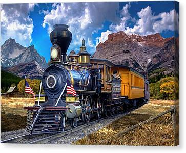 Rocky Mountain Train Canvas Print by Ron Chambers
