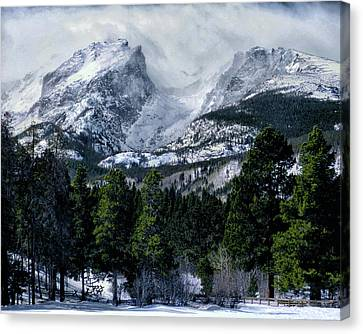 Rocky Mountain Winter Canvas Print by Jim Hill