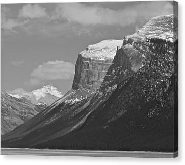 Canvas Print featuring the photograph Rocky Mountains - B/w by Josef Pittner