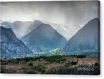 Rocky Mountains, Early Summer Rain Canvas Print by Felix Lai