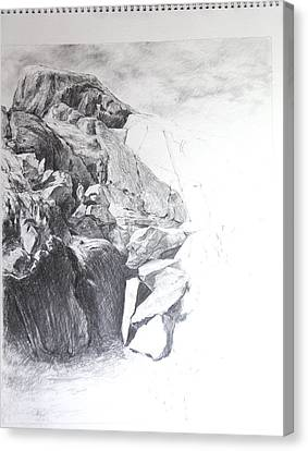 Rocky Outcrop In Snowdonia. Canvas Print