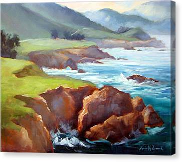 Rocky Point Afternoon Big Sur Canvas Print