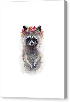 Rocky Raccoon Canvas Print by Stephie Jones