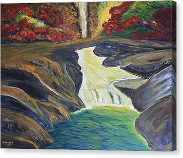 Rocky River Falls Canvas Print