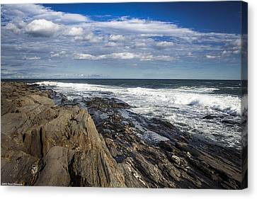 Rocky Shore Line Two Lights Maine  Canvas Print