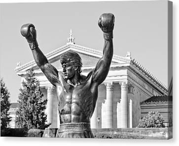 The Tiger Canvas Print - Rocky Statue - Philadelphia by Brendan Reals